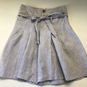 Anthropologie Cidra 100% Linen High Waist Shorts